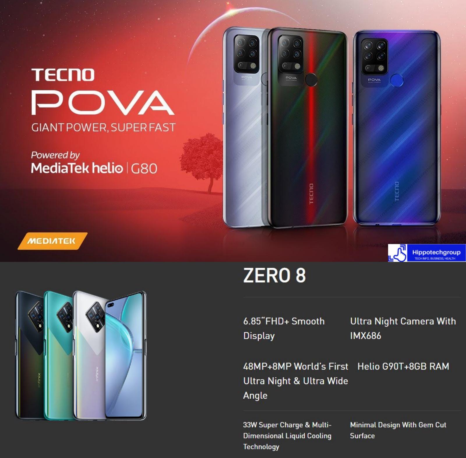 Tecno Pova & Infinix Zero 8 Compared (Specs & Price)
