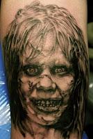 tatuaje para halloween el exorcista
