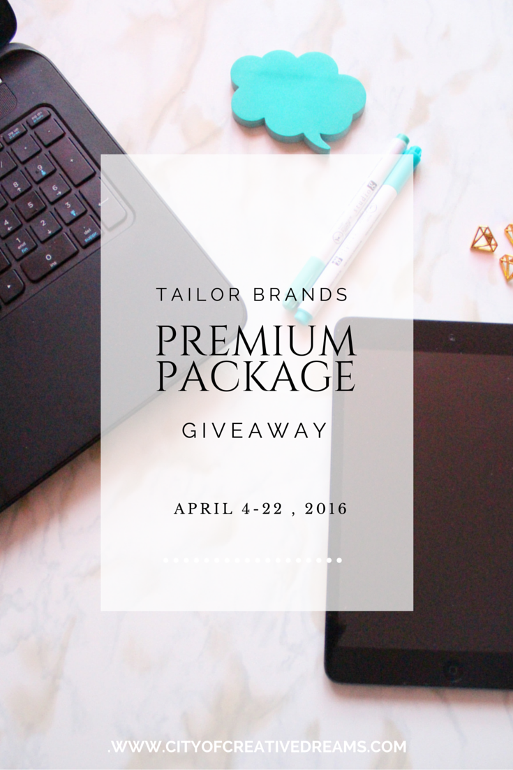 Tailor Brands Premium Package Giveaway | City of Creative Dreams