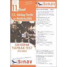 Sınav 11.Sınıf T.C. İnkılap Tarihi ve Atatürkçülük Çek Kopar Yaprak Testler