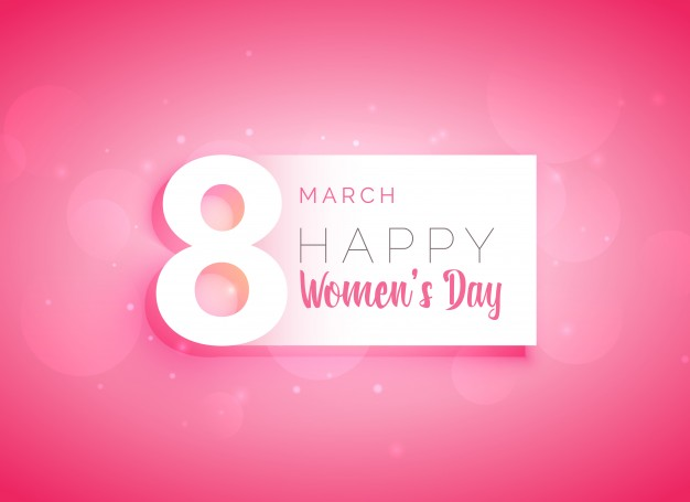 Pink woman day background Free Vector
