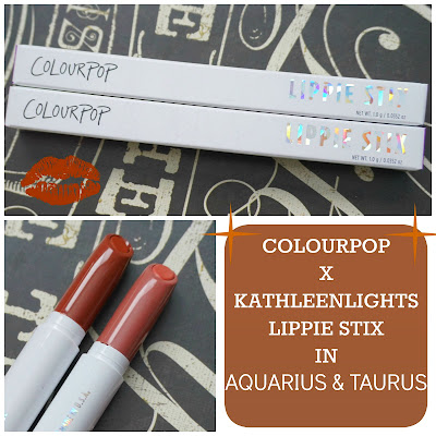 ColourPop x KathleenLights Lippie Stix in Aquarius & Taurus