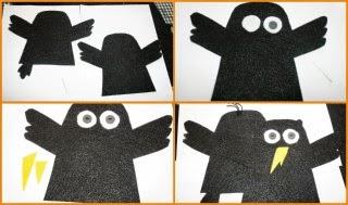 DIY manualidad títere de mano de un pájaro