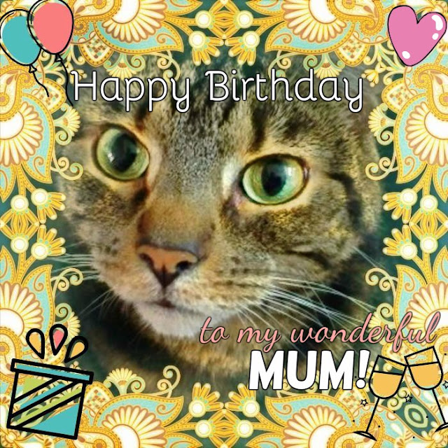 Caturday Art Happy Birthday, Mum!