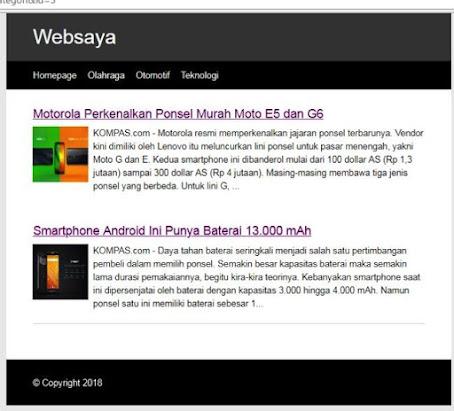 Contoh Web Portal Berita Sederhana