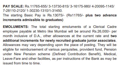 sbi clerk salary in hand