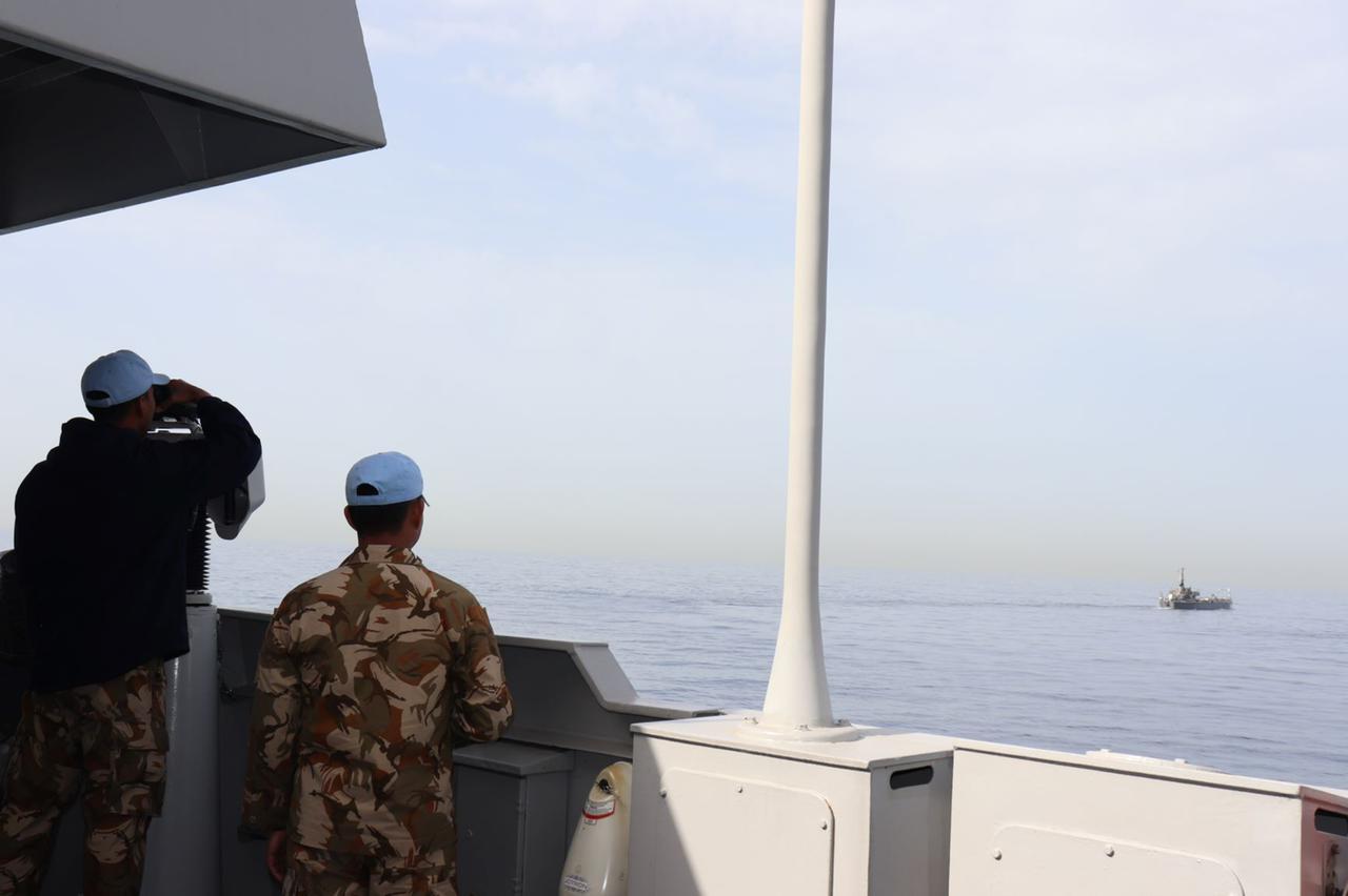 Satgas MTF TNI-Angkatan Laut Lebanon Latihan SAR Bersama