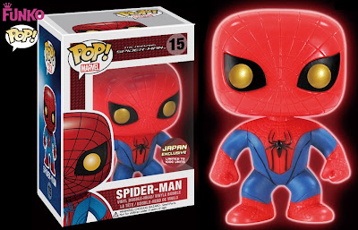 Japan Exclusive Glow in the Dark The Amazing Spider-Man Pop! Marvel Vinyl Figure Bobble Head by Funko