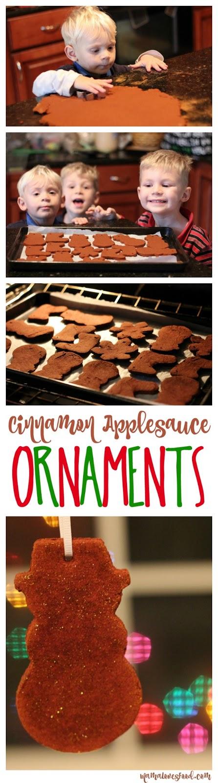 Cinnamon Applesauce Holiday Ornaments