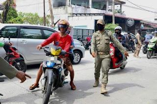 Satgas Kembali Jaring Warga Medan Tidak Gunakan Masker