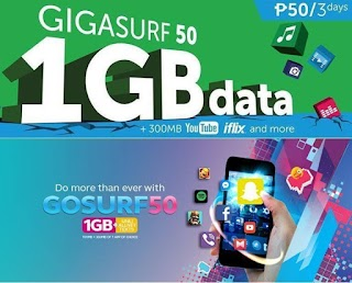 Smart and Globe Prepaid 3 days Internet Surfing Promo for 50 Pesos