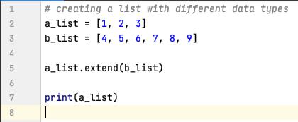 Extend a List in Python