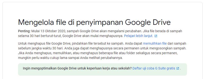 Cara Mengosongkan Ruang Penyimpanan Google Drive