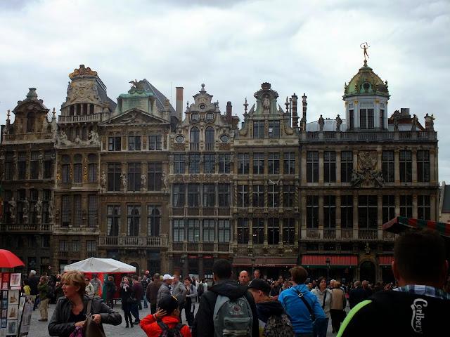 casas gremiales en la gran plaza de bruselas