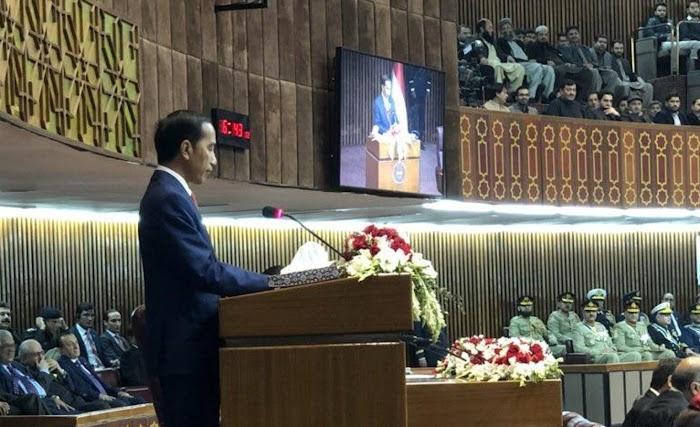 Di Pakistan Presiden Jokowi : Korban Terbanyak, Konflk, Peperangan, dan Aksi Terorisme adalah Umat Islam
