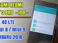 Xiaomi Redmi 3 /3 (Ido) Pro Fix 4G LTE Mendukung Miui 8 Dan Miui 9 Update 2018