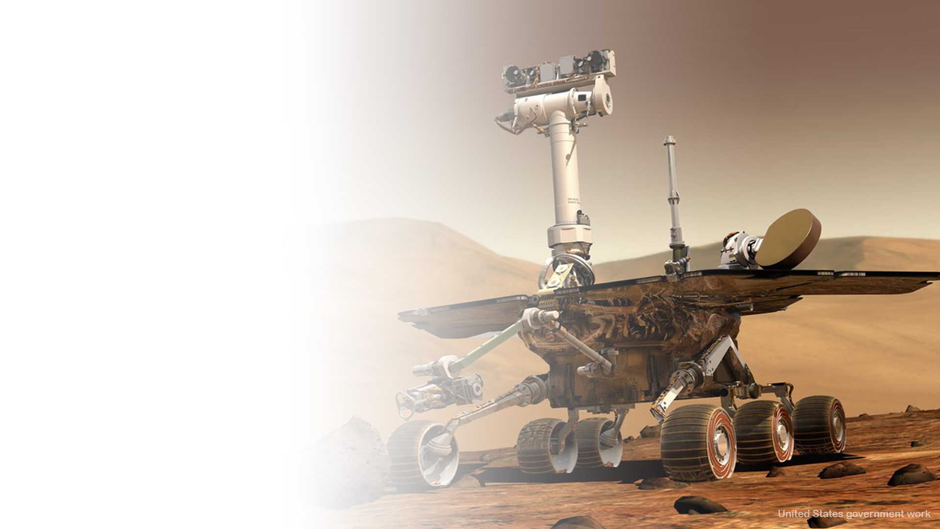 Mars Exploration By Curiosity Free Background
