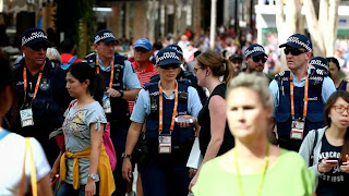 Picture of police on streets in Brisbane