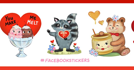Be Mine Facebook Stickers!