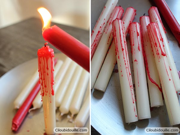 DIY Blood Candles Tutorial for Halloween