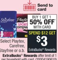 Select Playtex, Carefree, Stayfree Or O.b