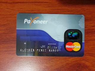 Tarjeta de crédito prepagada Payoneer