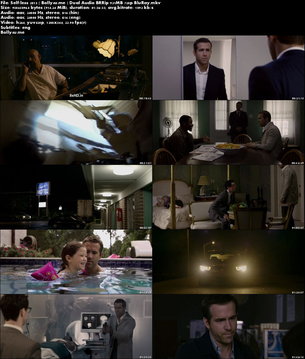 Self/Less 2015 BRRip 900MB Hindi Dual Audio 720p ESub Download