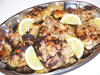 retete mancare friptura de pui la gratar sau grill cu lamaie,