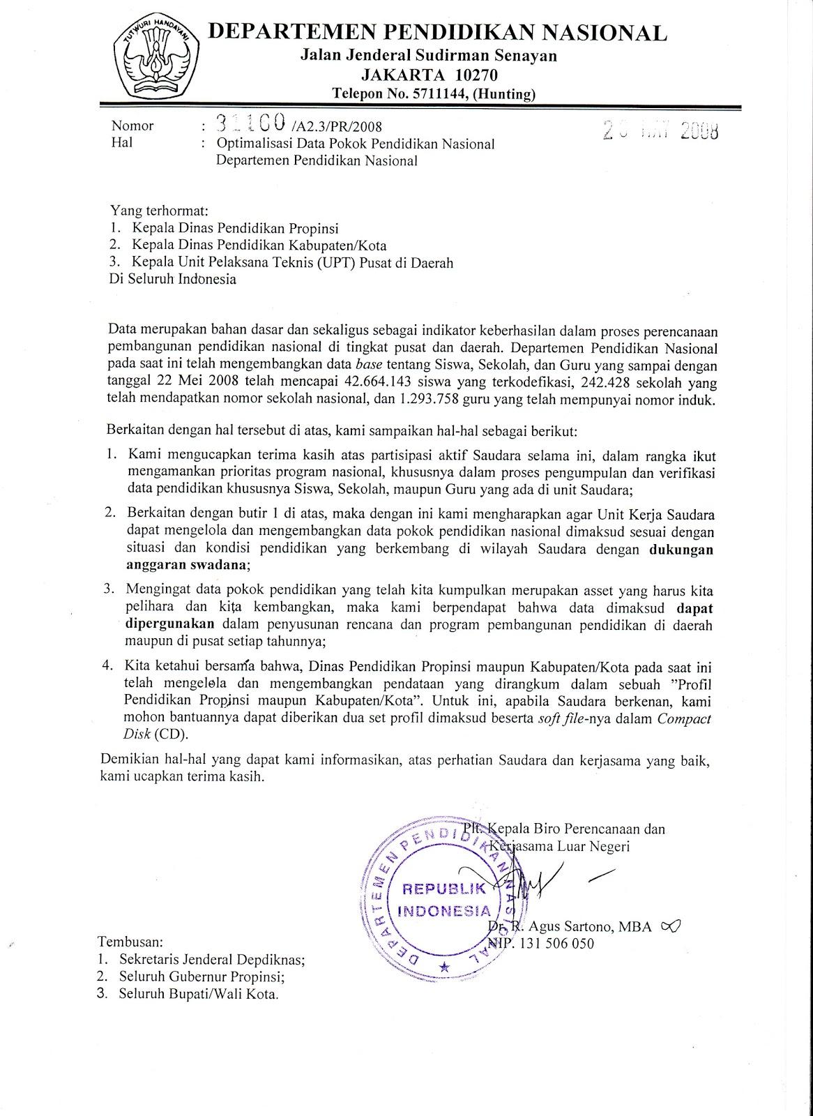 contoh surat dinas sekolah - wood scribd indo