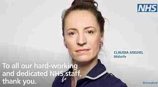Românca Claudia Anghel, imaginea simbol a Servicului de sănătate britanic
