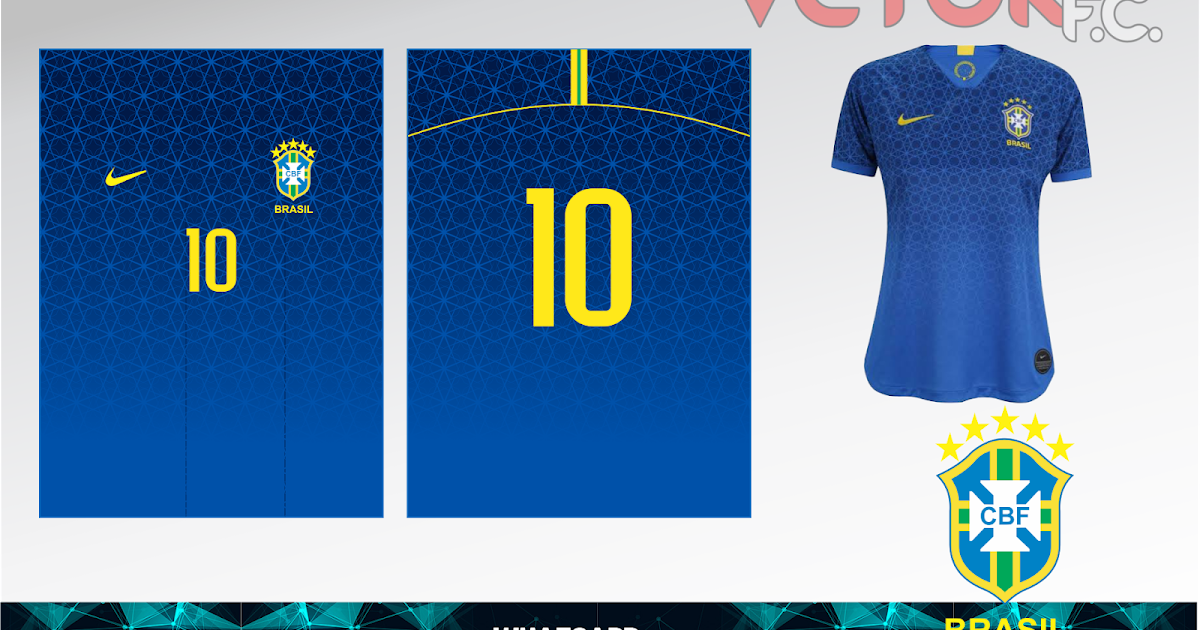Templates, Fontes E Vetores: Camisa Brasil Feminina 2019