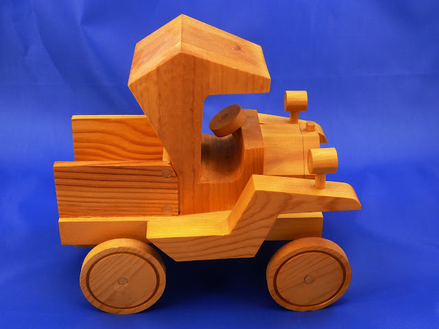Right Side View - Wooden Toy Truck - Norm Marshall Model T Pickup Truck