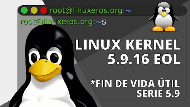 Linux Kernel 5.9 llega al final de su vida útil