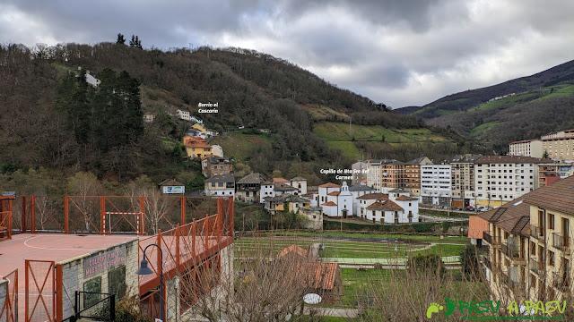 Vista sobre el Barrio del Cascarín y la Capilla del Carmen