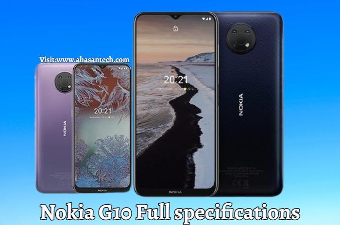 Nokia G10 Full specifications