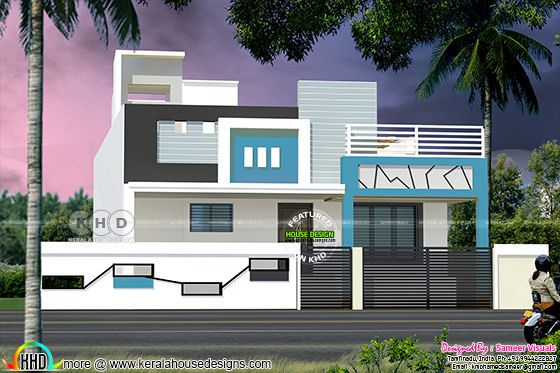Single Floor South Indian Style 1100 Square Feet Home