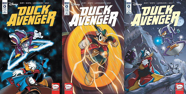 Duck Avenger #0, all cover variants