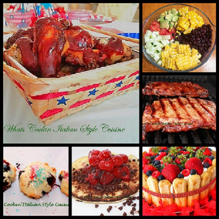 summer recipe collage