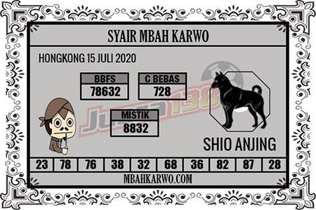 Syair Mbah Karwo HK Rabu 15 Juli 2020