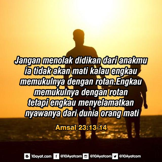Amsal 23: 13-14