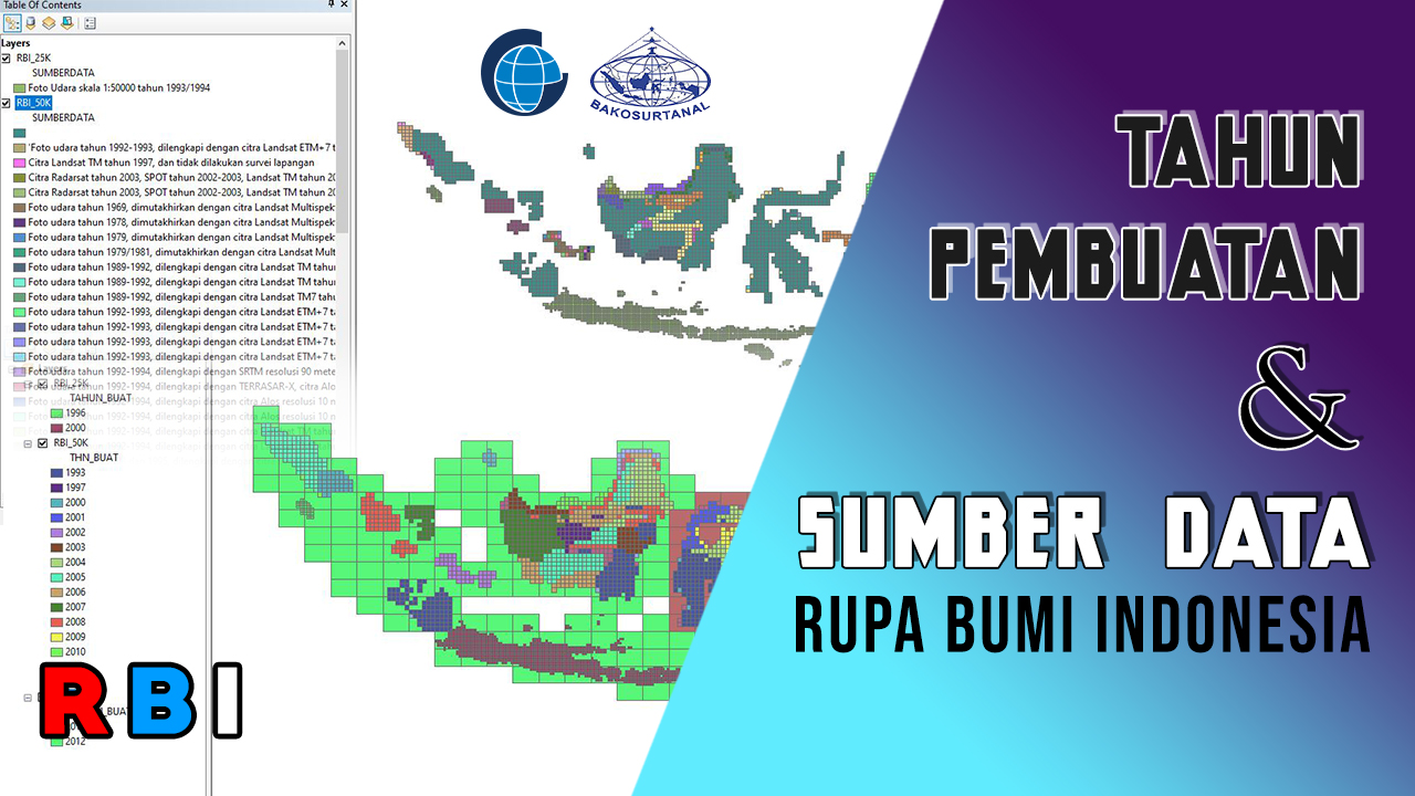 Tahun Pembuatan dan Sumber Data pada SHP Rupa Bumi Indonesia (RBI)