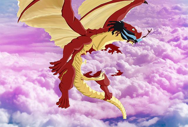 bad dragon cartoon