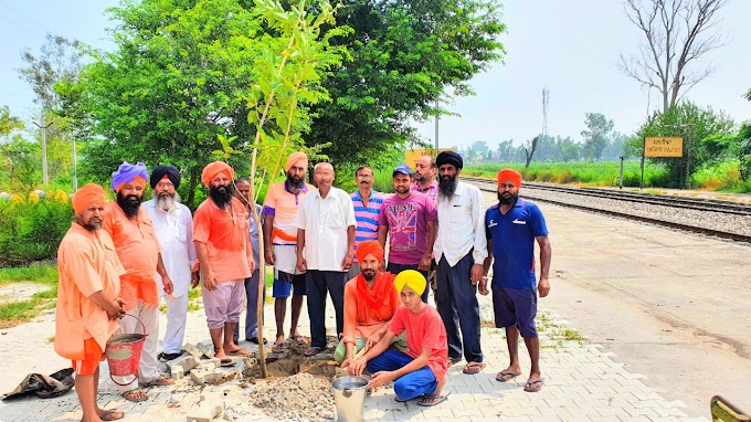 The campaign of planting of the herbal plants around three railway stations started.