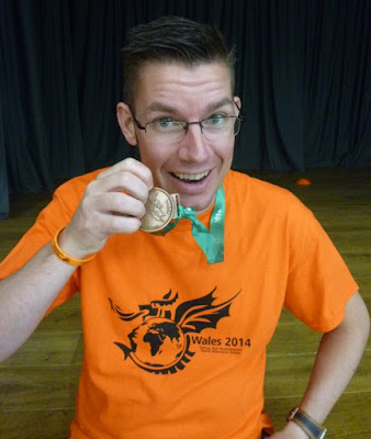 With my Corinthian medal from competing in the World of Grip events