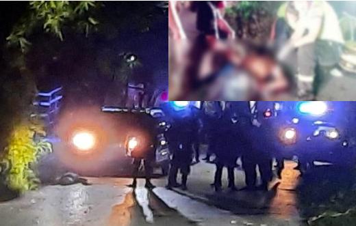 5 albañiles bebían cerveza en una finca que cuidaban, Policías los quisieron someter, se resistieron, los elementos sacaron sus armas y mataron a 2
