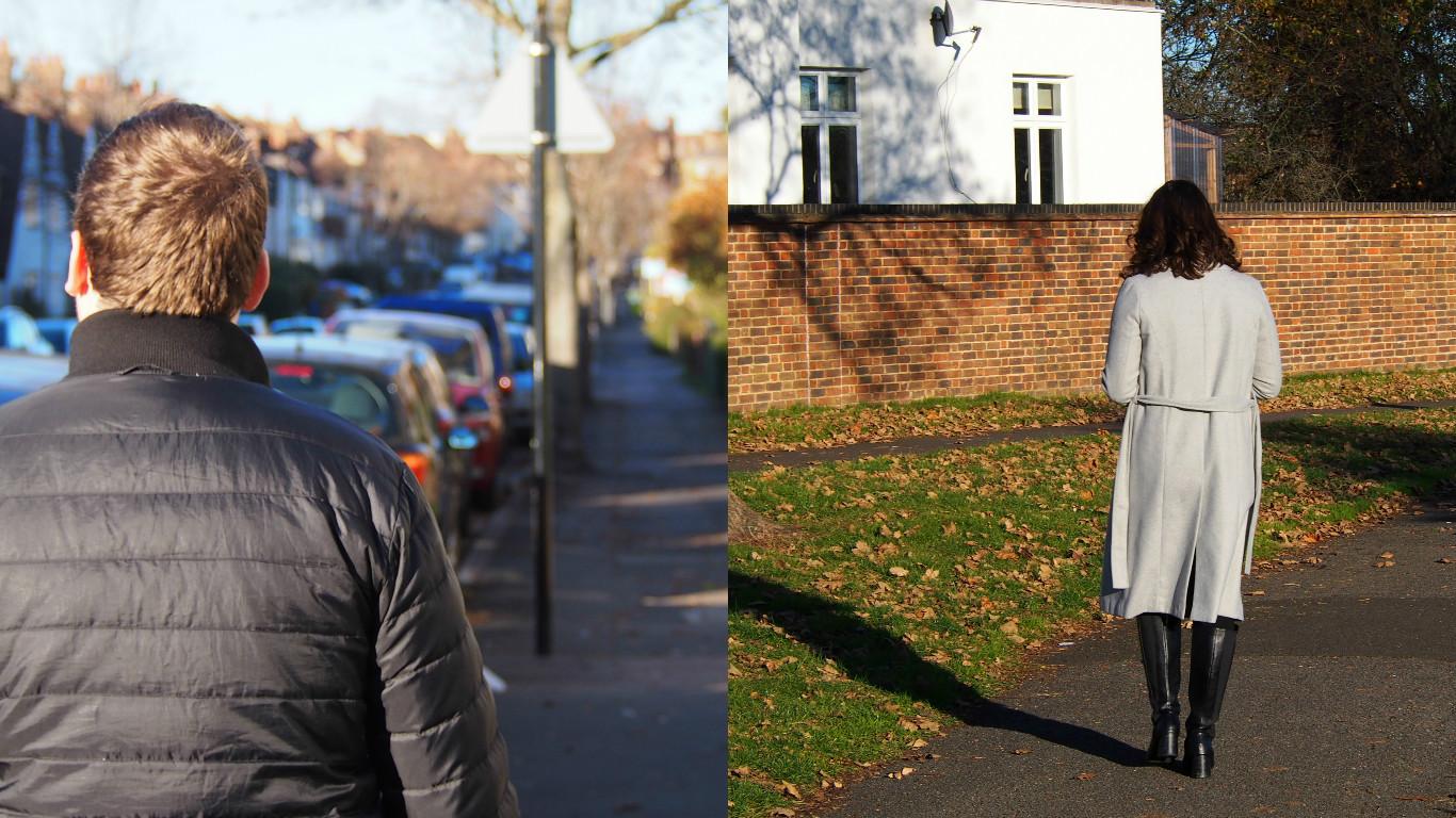 Sam and myself walking