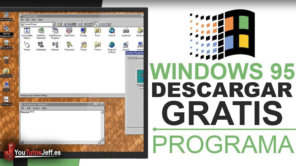 Descargar Windows 95 como Programa en Windows, Linux o Mac