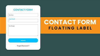 Simple Contact Form with Floating Label Animation