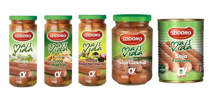 Salsichas de soja da Izidoro