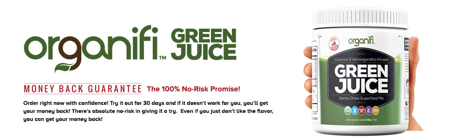 ORGANIFI GREEN JUICE Now you can get all your healthy superfoods in one glass. ... with No Shopping, No Blending, No Juicing, and No Cleanup !